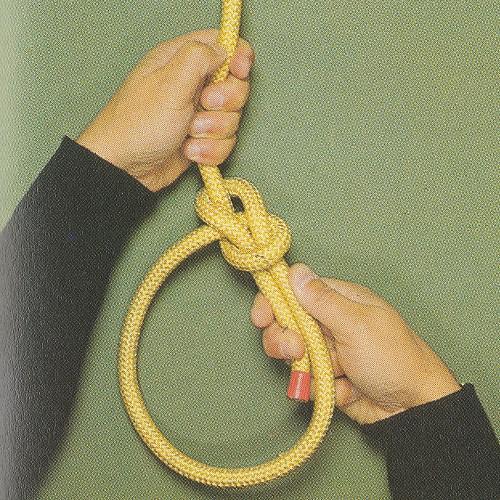 Palstek - Bowline csomó kötése, lépésről lépésre