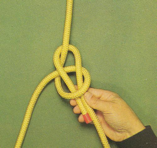 Palstek vitorlás csomó kötése egy kézzel